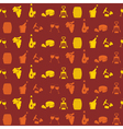 Seamless pattern with wine icons vector image vector image