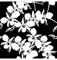 Seamless wallpaper pattern with orchid on black vector image vector image