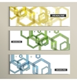 Set background of large colored hexagons vector image vector image