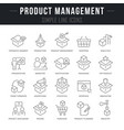 set line icons product management vector image