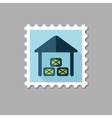 Shed flat stamp with long shadow vector image vector image
