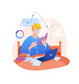 study work at home flat vector image