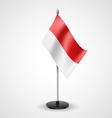 Table flag of Monaco vector image vector image