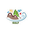 template golf logo funny cartoon colored logo vector image