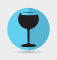 the wineglass icon goblet symbol vector image vector image