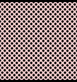 tile pattern with black polka dots on pastel pink vector image vector image