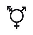 transgender symbol gender and sexual orientation vector image