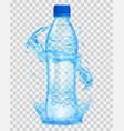 transparent plastic bottle with water crown and vector image vector image