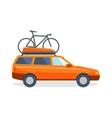 Travel by car flat summer vacation vector image