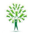 tree abstract green people growth concept vector image vector image
