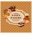 Vintage Pastry Frame vector image vector image
