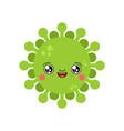 virus kawaii cute cartoon funny infection sweet vector image
