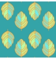 Vntage leaf pattern vector image vector image