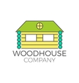 wood house logo design real estate icon vector image vector image