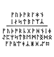 Younger Runes and The Northumbrian Order vector image vector image