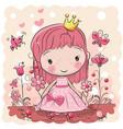 cute cartoon fairy tale princess vector image