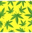 Seamless marijuana cannabis pattern vector image