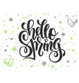 hand lettering greetings text - hello vector image