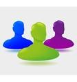 shiny people icon design vector image