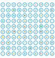 100 navigation icons set cartoon style vector image vector image