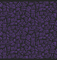 abstract pattern with chaotic purple strokes vector image