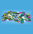 abstract word lets graffiti style font lettering vector image vector image
