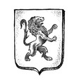 animal for heraldry in vintage style engraved vector image vector image
