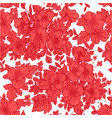 beautiful seamless pattern wild scarlet flowers vector image vector image
