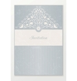 Beautiful wedding invitation vector image