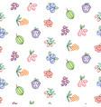 berries seamless pattern food outline vector image vector image