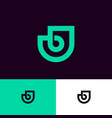 bj logo green monogram original symbol vector image vector image