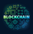 blockchain colorful block vector image vector image