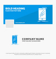 blue business logo template for device mobile vector image vector image