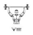 Bodybuilder lifting barbell vector image