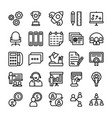 business and office line icons 11 vector image vector image