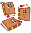 cartoon books in various positions vector image
