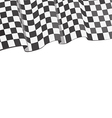 checkered flag racing vector image vector image
