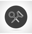 Climbing hooks black round icon vector image vector image