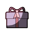 Colorful gift box with decorative ribbon and vector image