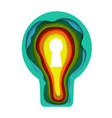 colorful light bulb with keyhole vector image