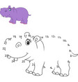 connect the number to draw the animal educational vector image vector image