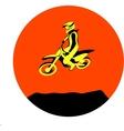 Dirt biker jump vector image vector image