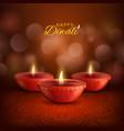 diwali diya lamps deepavali indian hindu fest vector image