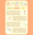 doodle breastfeeding breast pomp food baby vector image