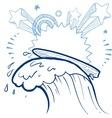 doodle pop surf vector image