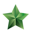 Emerald star isolated object vector image