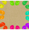 Flip Flops And Sand vector image vector image