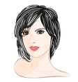 Girl-with-brown-hair vector image vector image