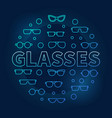 glasses round blue circular vector image vector image