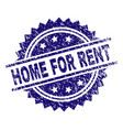 grunge textured home for rent stamp seal vector image